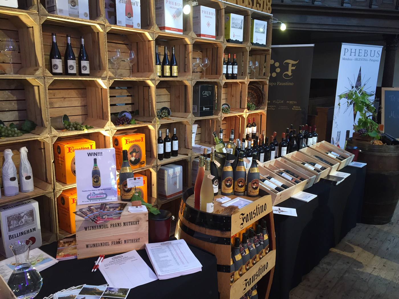 Wijnfestival Groningen stand De Monnik Dranken met Faustino, Phebus en Viña Ventisquero