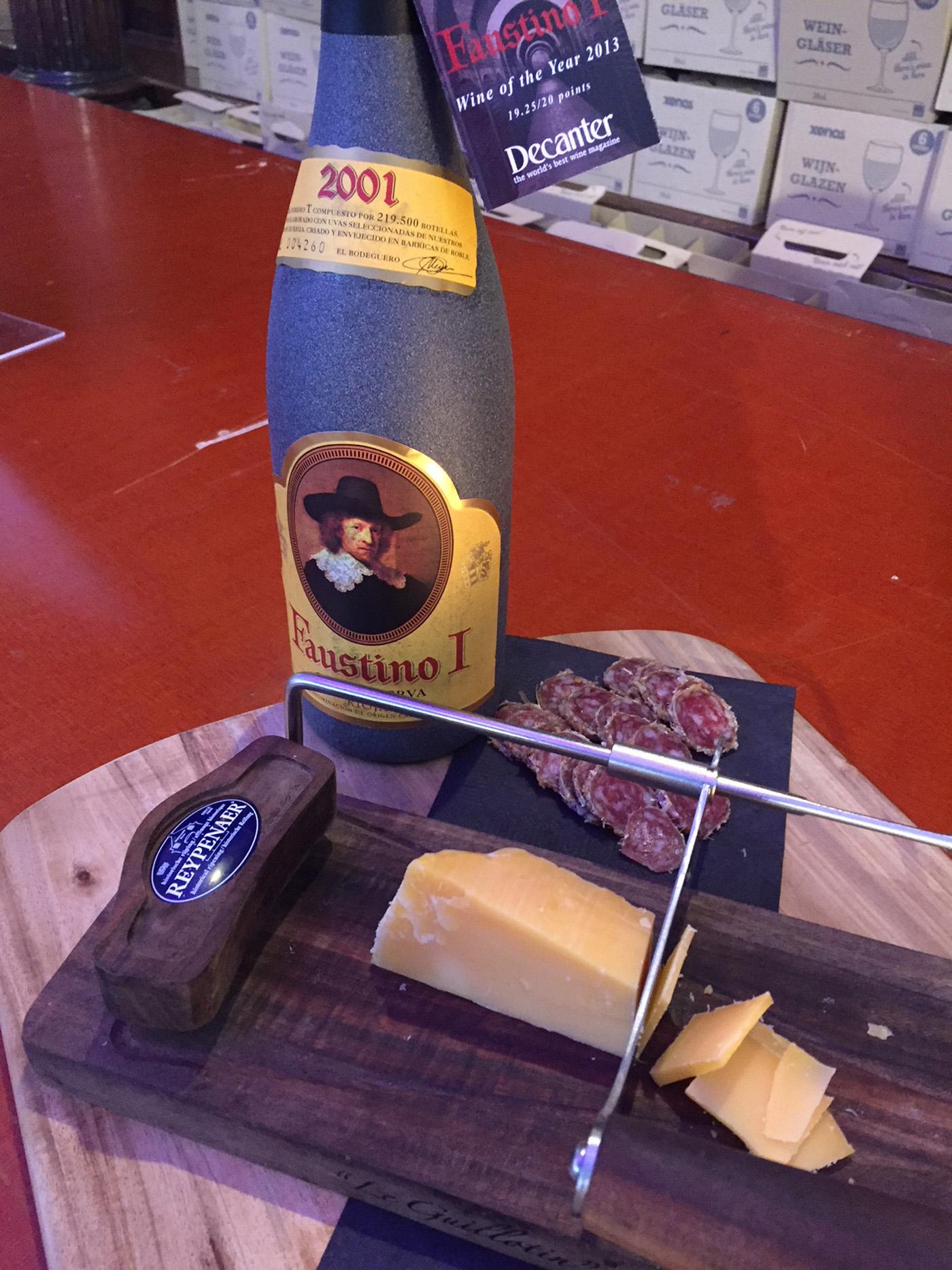 Faustino I Grand Reserva met kaasplankje op wijnfestival Groningen 2017