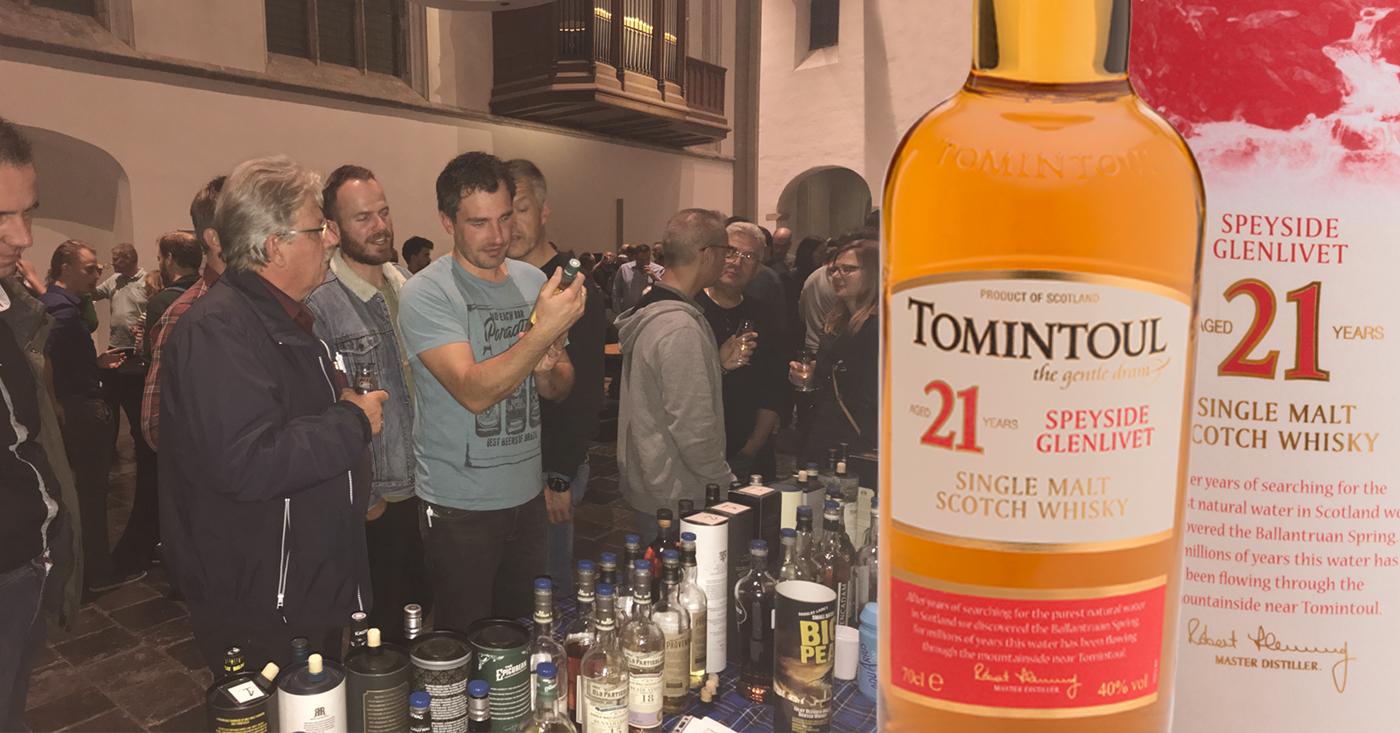 Fruitige en bloemige Tomintoul populair op whisky festival in de Janskerk in Utrecht