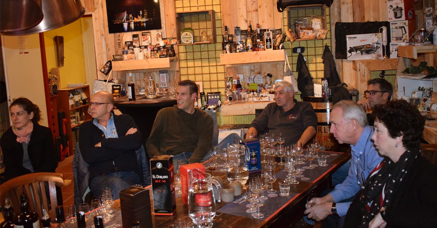 El Dorado Rum proeverij bij Drankenhandel Fred van den Heuvel in Giessenburg