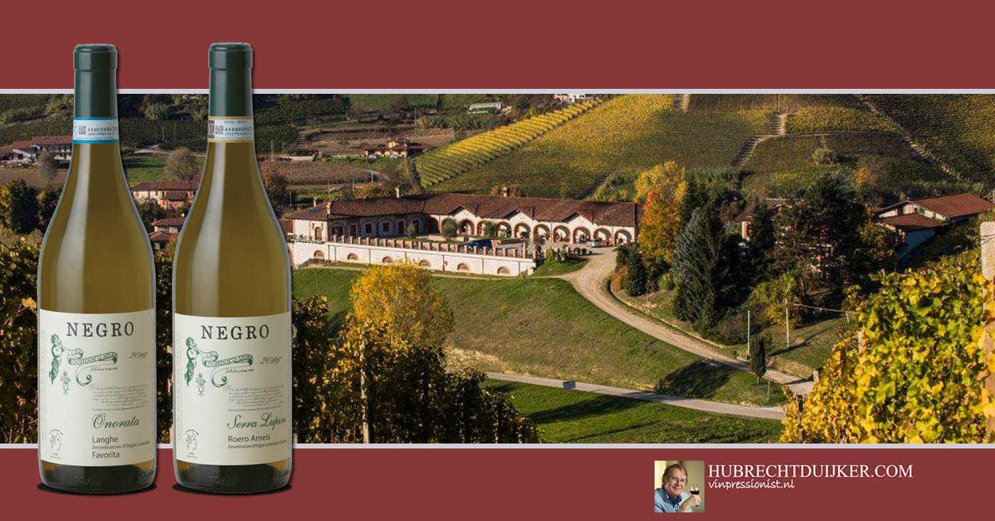 Hubrecht Duijker uitermate positief over onze witte wijnen van Negro uit Piemonte