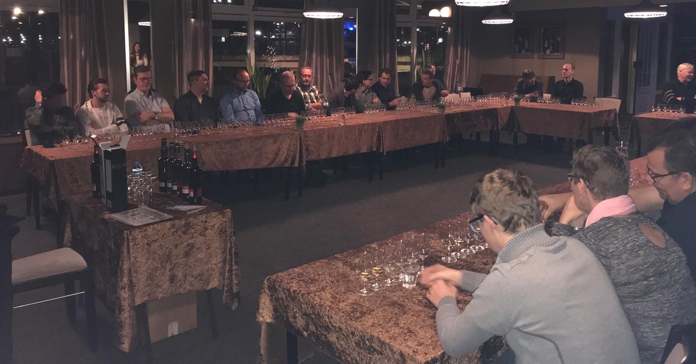 Mooie masterclass met whisky's Loch Lomond voorafgaand aan Mitra WX Tilburg