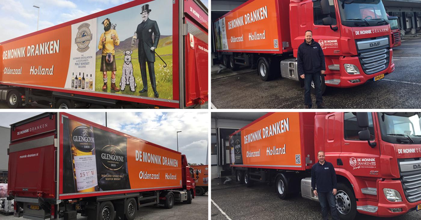 Onze chauffeurs Rob en Martijn super enthousiast over nieuwe truck oplegger combinaties