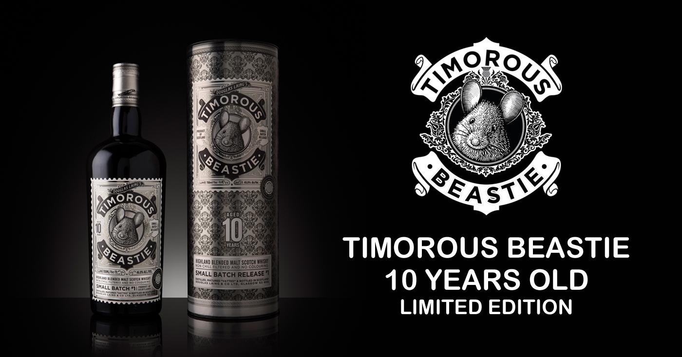 Douglas Laing lanceert de eerste limited edition van 2018 met de Timorous Beastie 10 Years