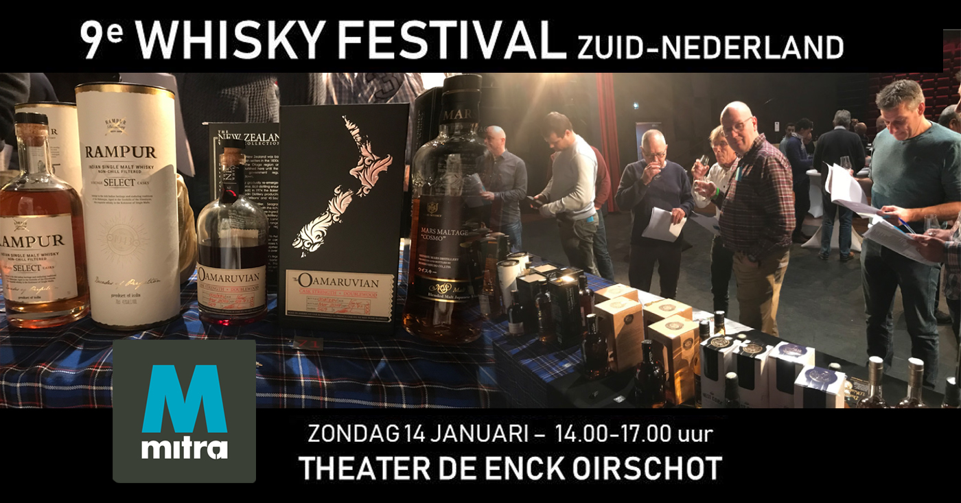 New Zealand Oamaruvian Single Cask gooit hoge ogen op Whisky Festival Zuid-Nederland