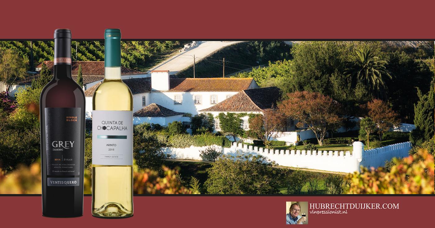 Wijnen Viña Ventisquero en Quinta de Chocapalha door Hubert Duijker genoemd als wijnvondst