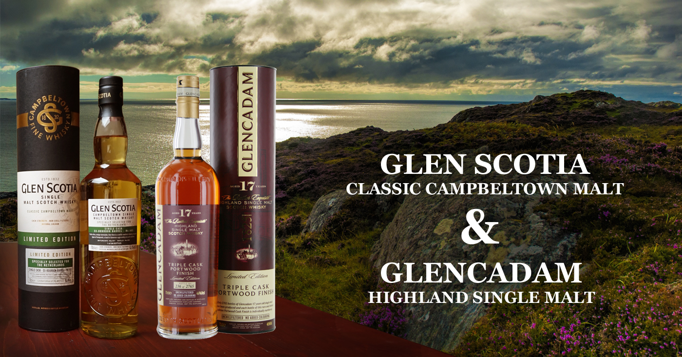Glen Scotia Single Cask 485 en Glencadam 17 YO Triple Wood