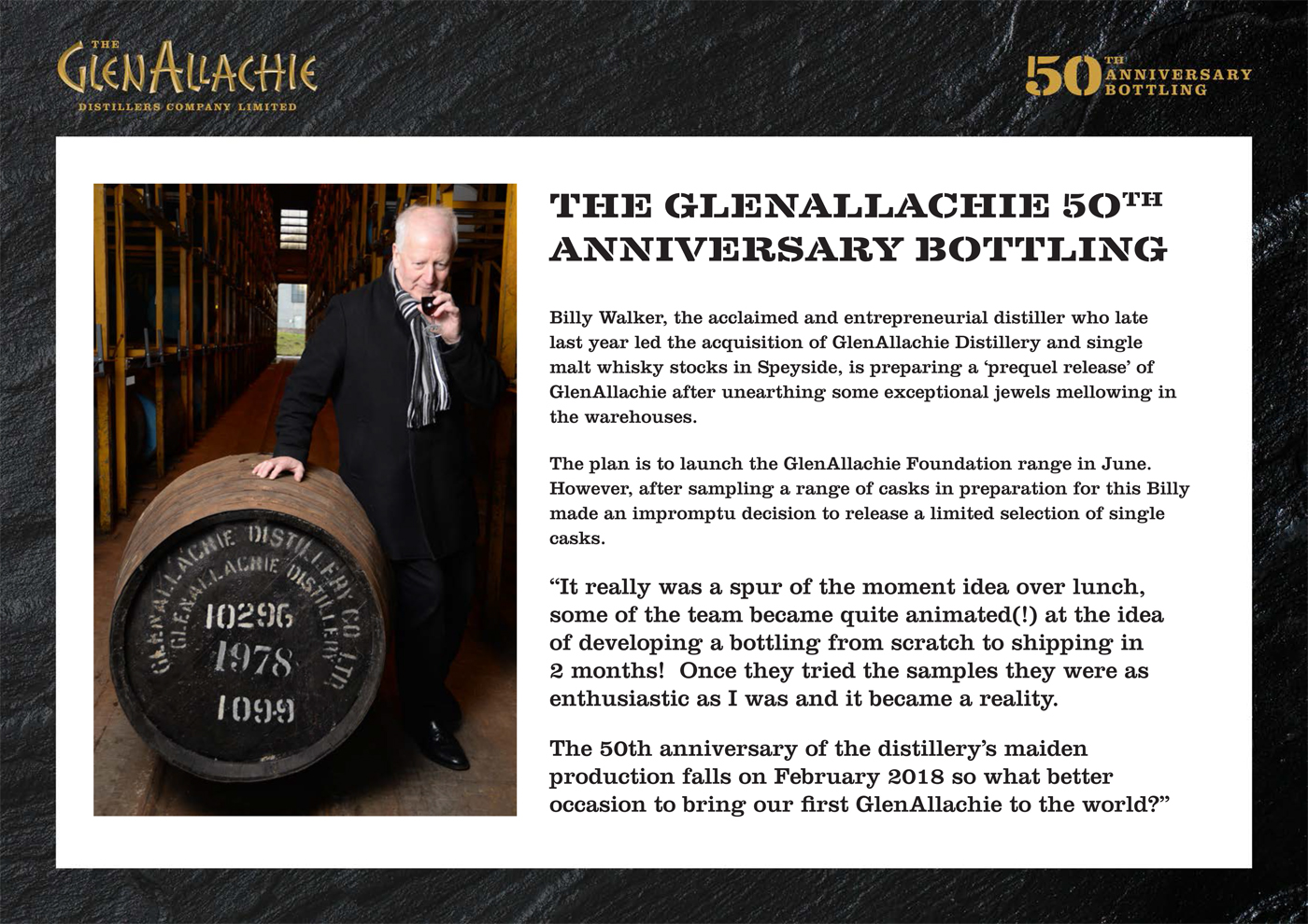 The GlenAllachie 50th Anniversary