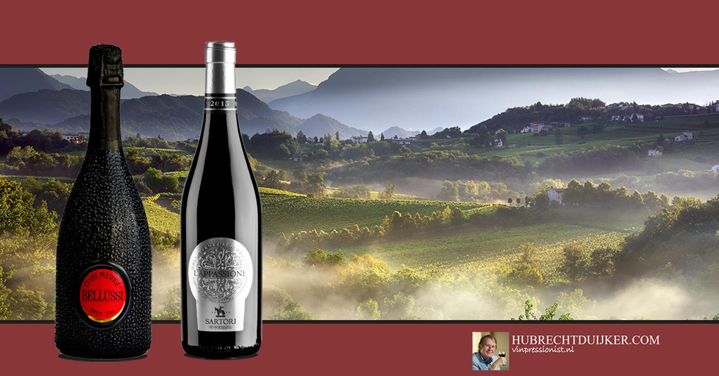 Twee Italiaanse wijnen van Bellussi en Sartori krijgen eervolle vermelding van Hubrecht