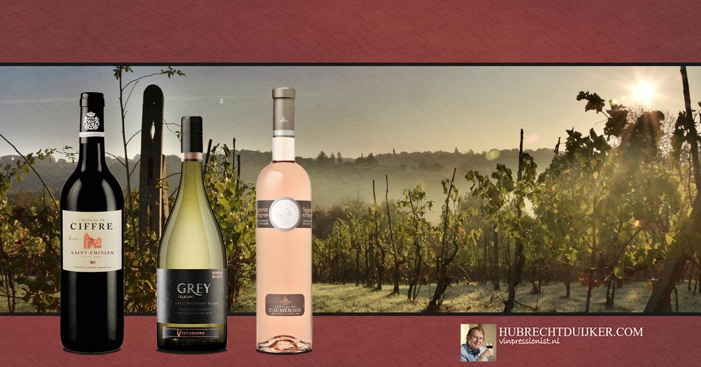 Eerste oogst Cuvée Seigneur de Piégros 2017 door Hubrecht Duijker genoemd als wijnvondst april 2018