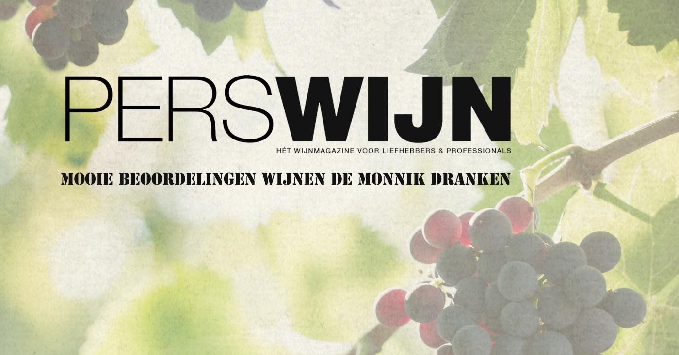 Mooie beoordelingen voor wijnen De Monnik Dranken in Perswijn 2 en 3