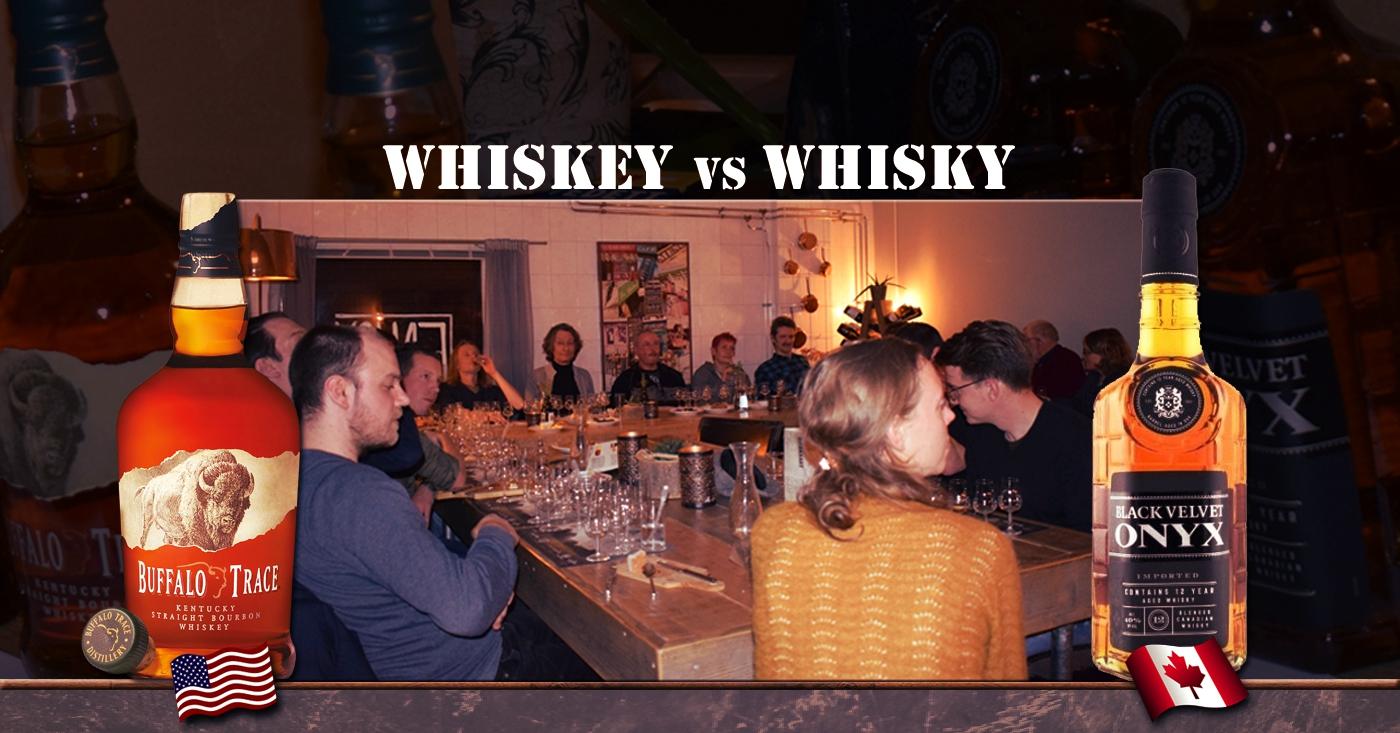 Mooie tegenstellingen tussen Buffalo Trace Bourbon en Black Velvet op whisky tasting in Arnhem