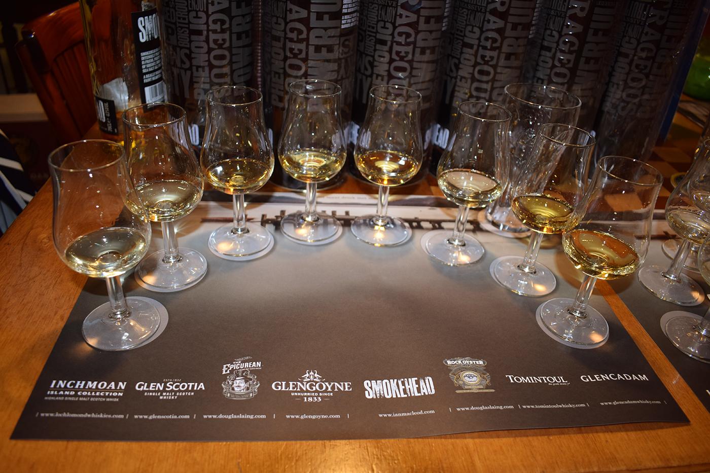 Line-up Whisky Tasting Schotland Slijterij Zonneveld in Den Bosch