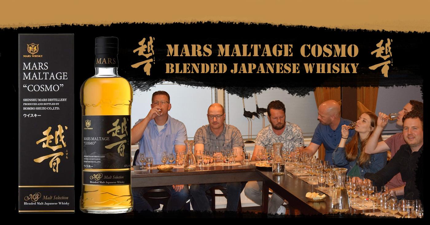 Mars Maltage Cosmo goed ontvangen op whisky tasting bij Slijterij Peeters in Wehl