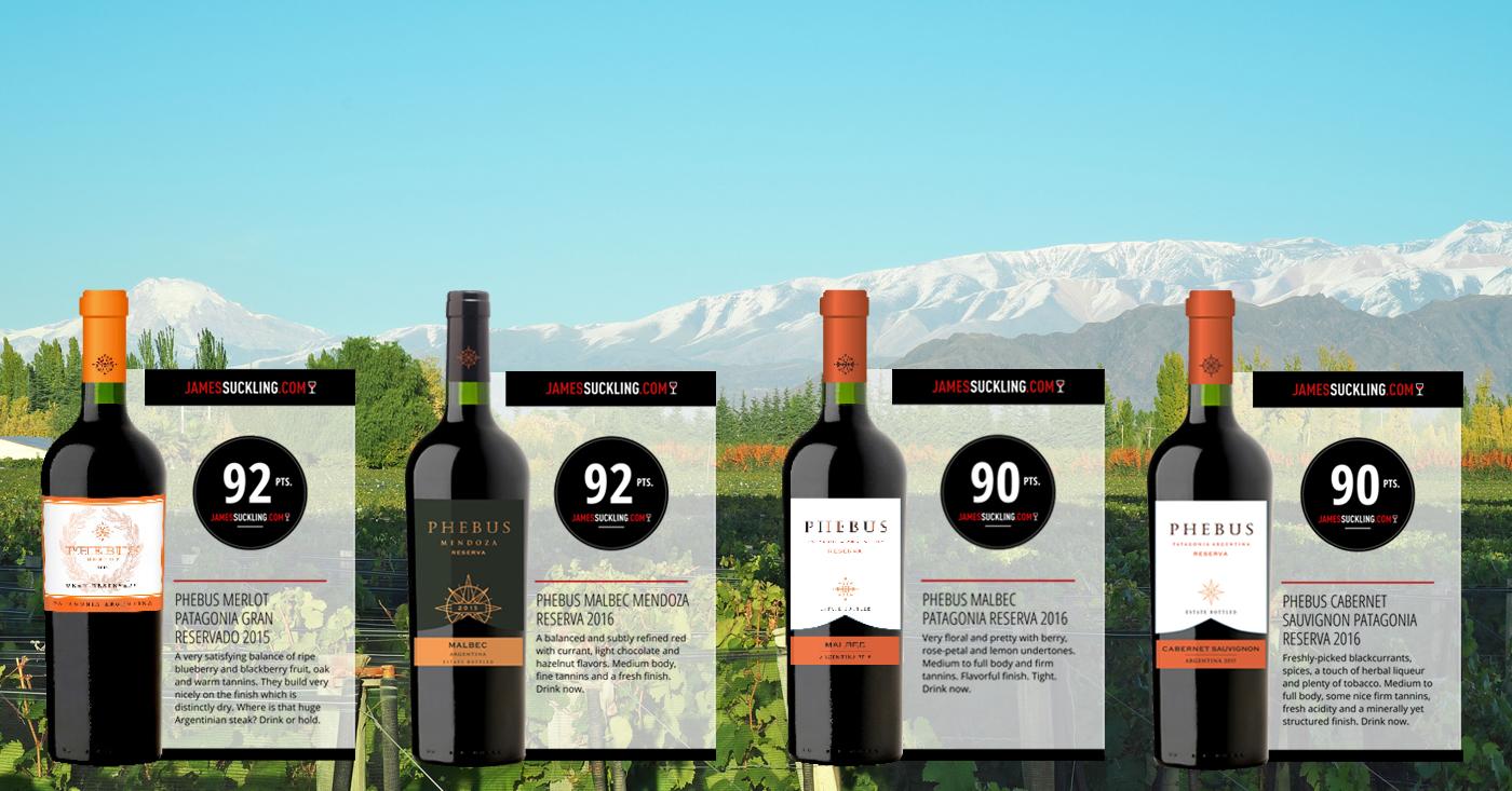 Phebus Reservado wijnen ontvangen mooie punten van James Suckling