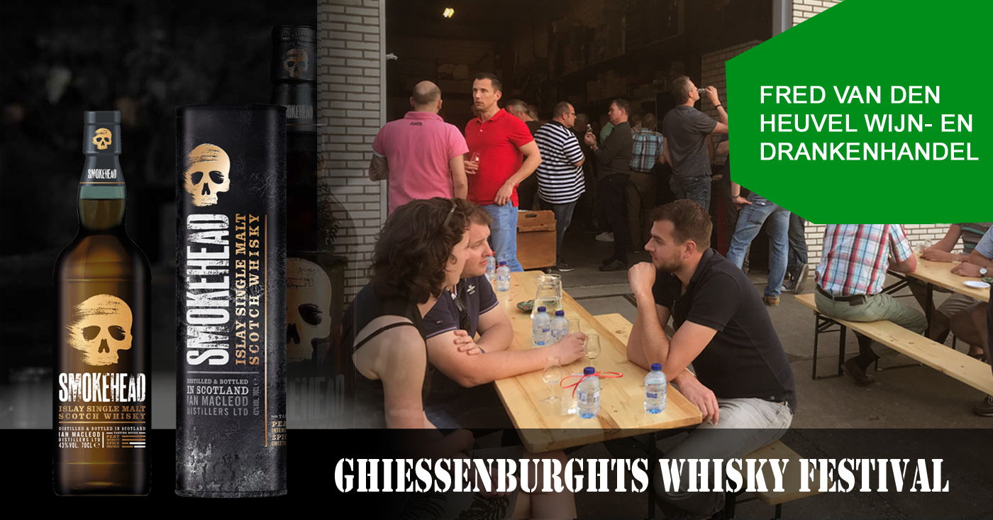 Smokehead Islay Single Malt uitverkocht op 1e Ghiessenburghts Whisky Festival