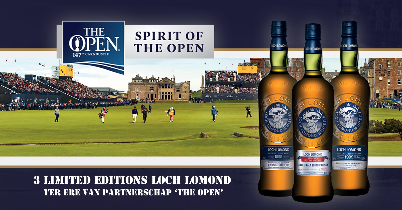 Loch Lomond sponsor van 'The Open' en lanceert drie limited editions!