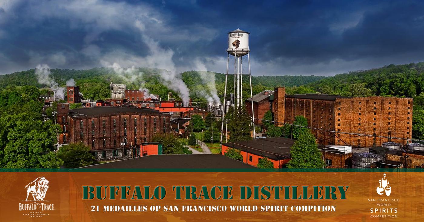 Maar liefst 21 medailles voor de Buffalo Trace Distillery tijdens de prestigieuze San Francisco World Spirits Competition