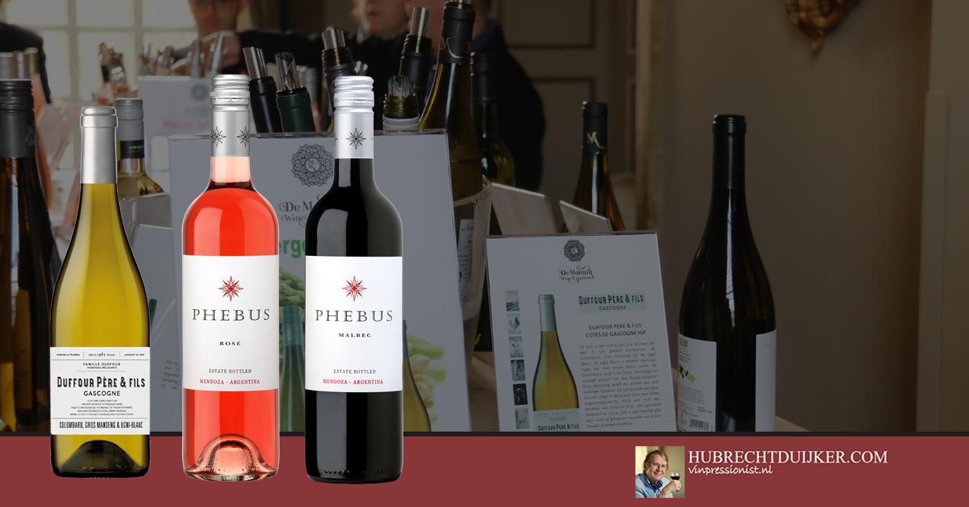 Wijnen Duffour Pere & Fils en Phebus genoemd als wijnvondst juli 2018