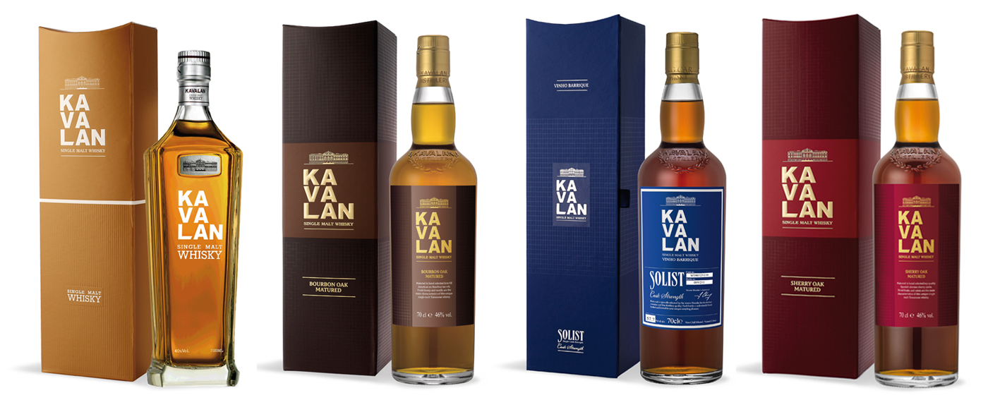 Kavalan Single Malt Whisky Line-up De Monnik Dranken
