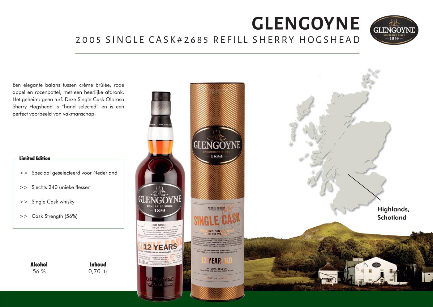 Lancering Glengoyne 2005# Single Cask Refill Sherry Hogshead tijdens het 100-jarig jubileum
