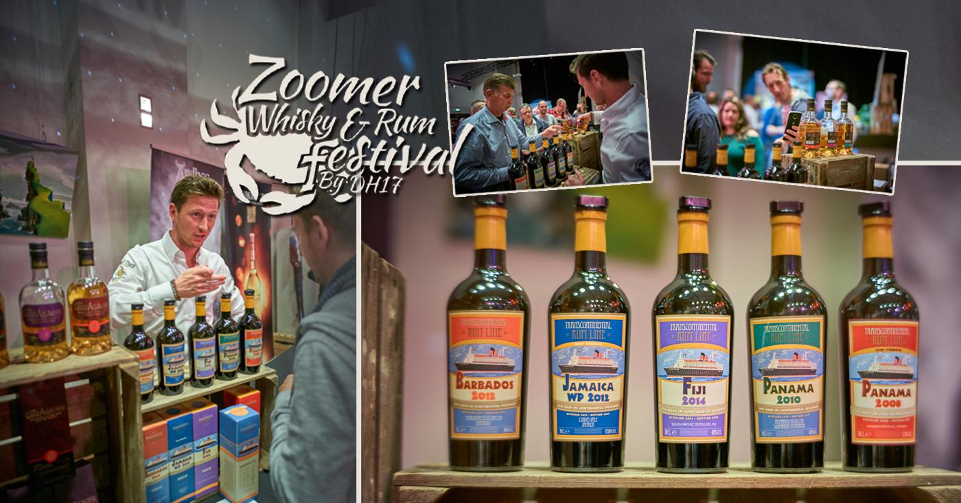 Transcontinental Rum Line maakt indruk op Zoomer Whisky & Rum Festival 2018