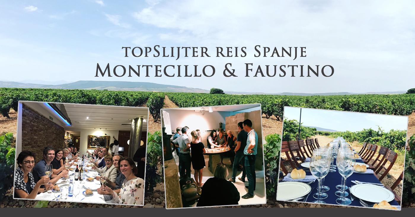Winnaars topSlijter incentive genieten in Spanje bij Montecillo & Faustino
