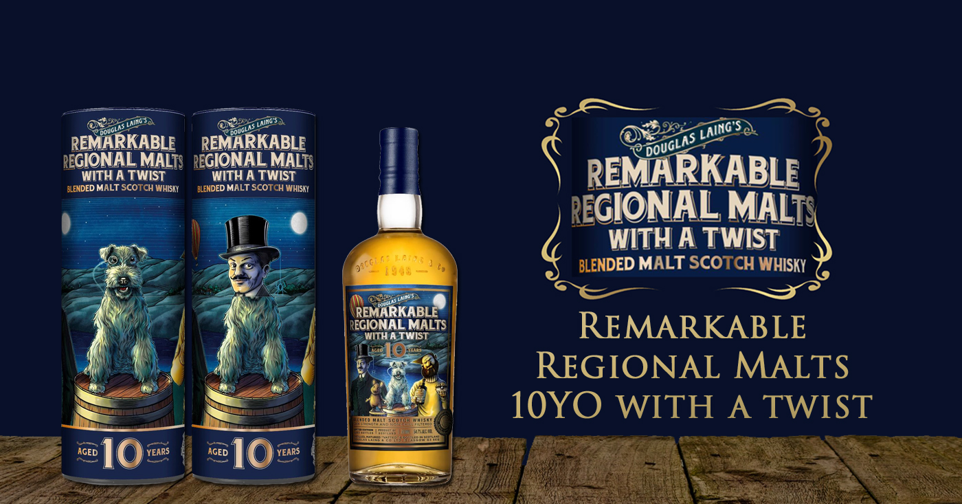Douglas Laing komt met 10 jaar oude Remarkable Regional Malts with a twist