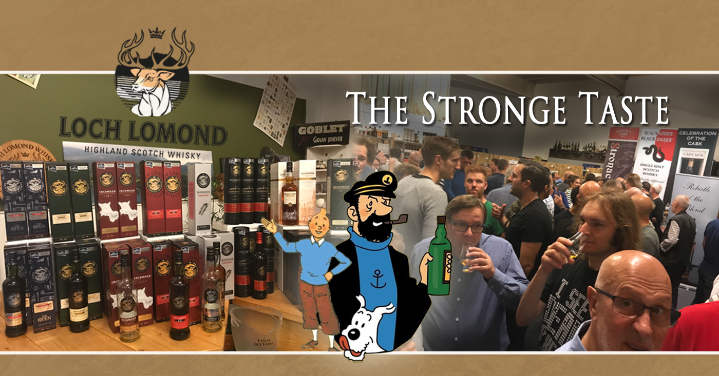 Loch Lomond Whisky's, Kuifje en Kapitein Haddock op The Strong Taste