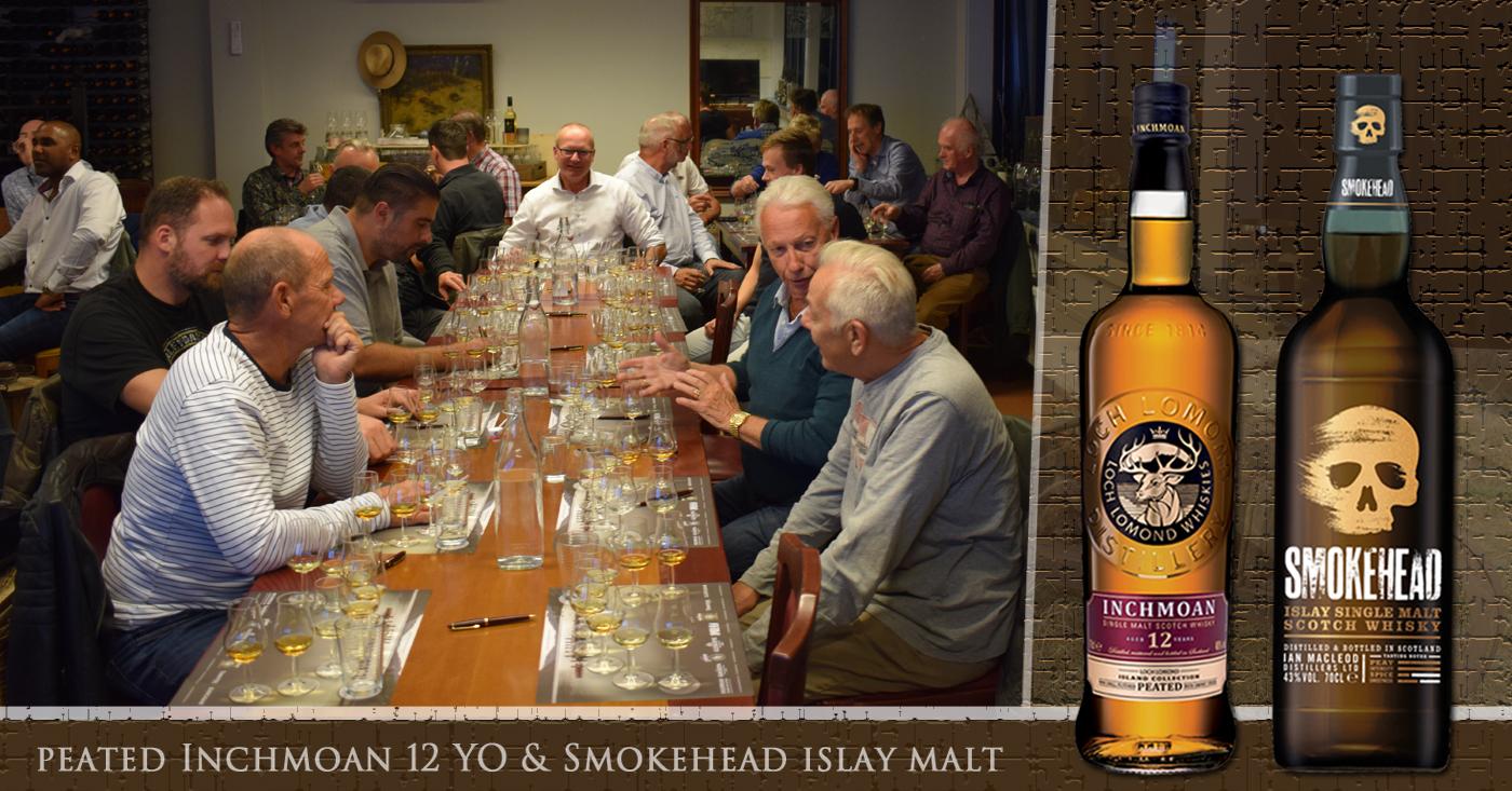 Rokerige whisky's Inchmoan 12 YO en Smokehead populair in Berkel en Rodenrijs