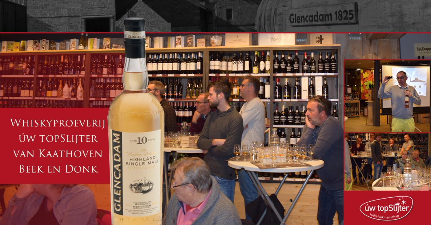 Glencadam 10 YO volop in de belangstelling op whiskyproeverij Beek en Donk
