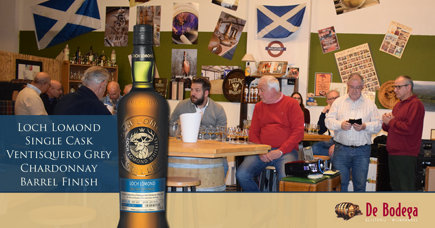 Loch Lomond Single Cask Ventisquero Grey Chardonnay Barrel Finish geproefd in Capelle