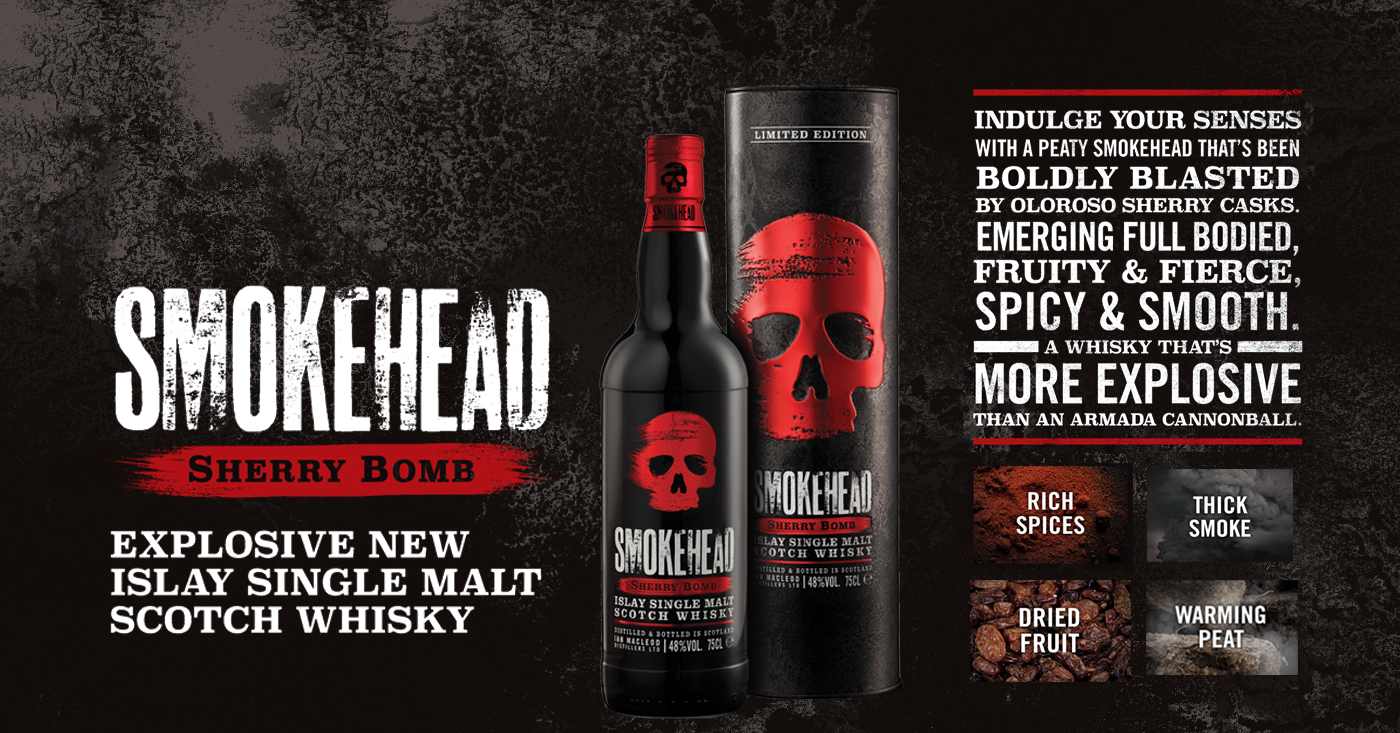 Nieuw! Smokehead Explosive Sherry Bomb!