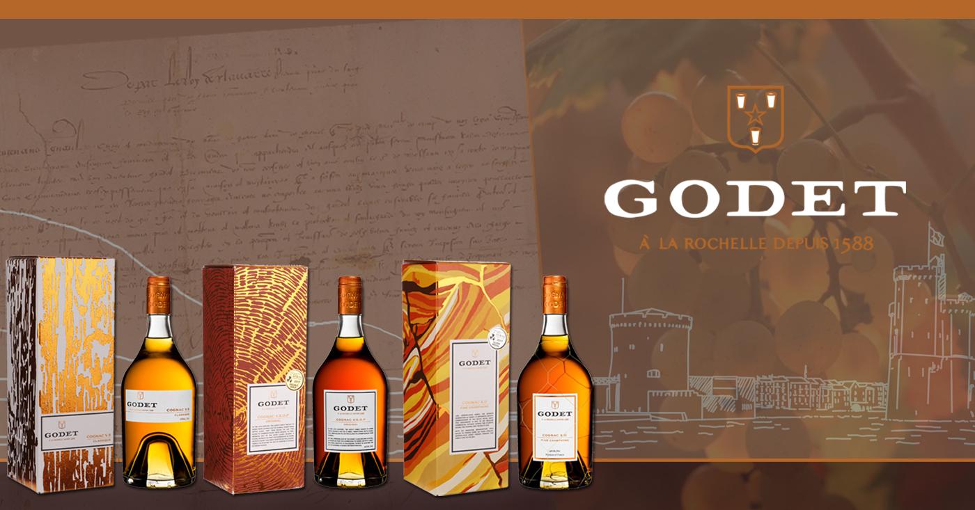 Relaunch core range Godet Cognac