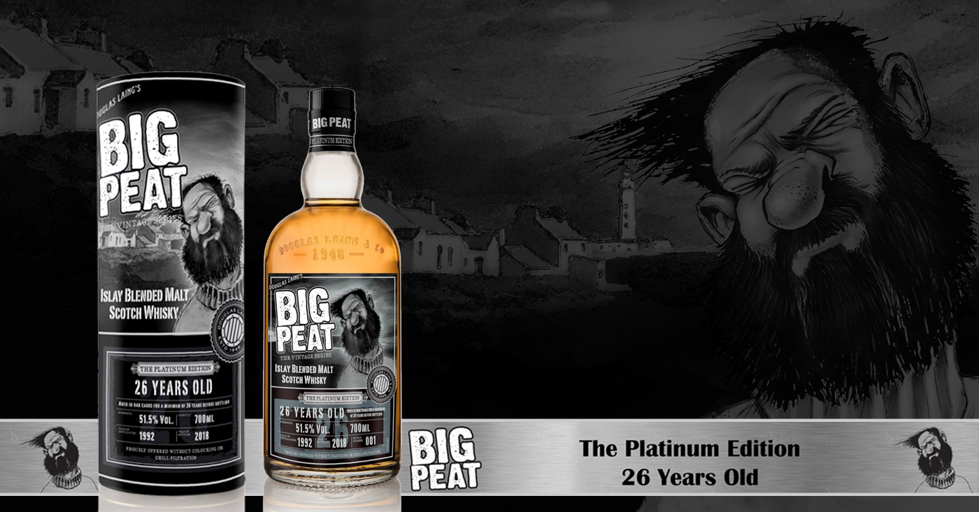 Big Peat onthult collectors item 'The Platinum Edition' 26 YO