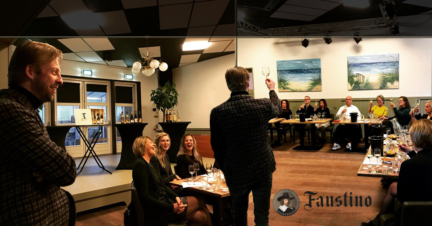 Faustino proeverijen door wijnexpert & sommelier Niek Beute een groot succes