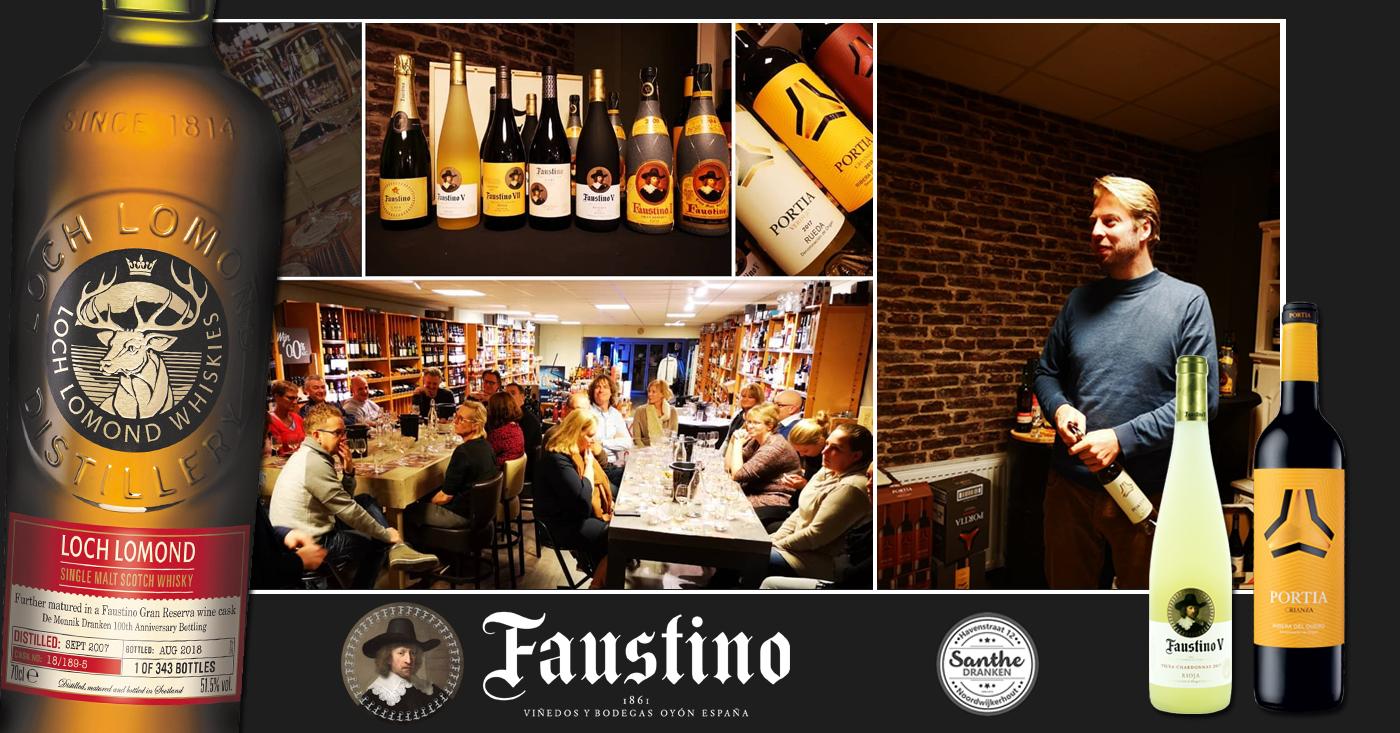 Whisky met finish op wijnvat verrassing van de avond tijdens Faustino wijnproeverij
