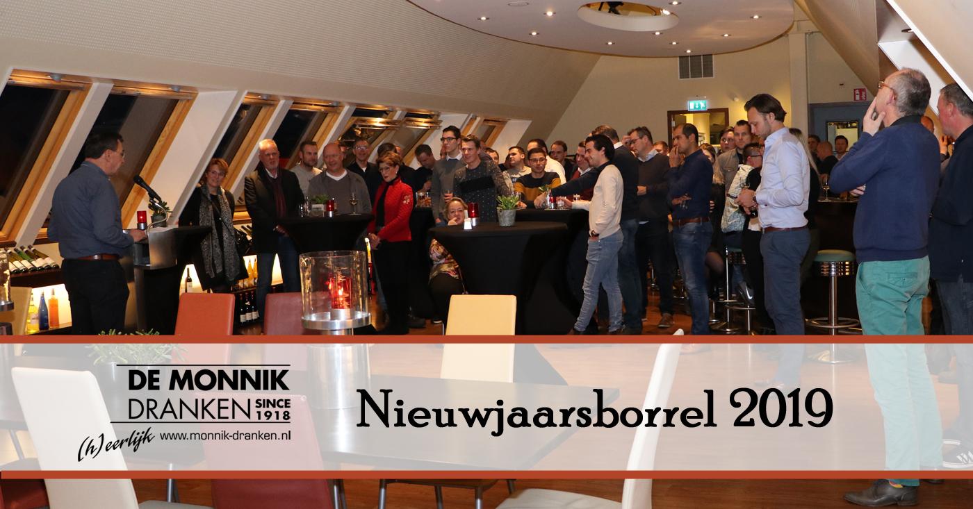 Nieuwjaarsborrel 2019 voor personeel De Monnik Dranken