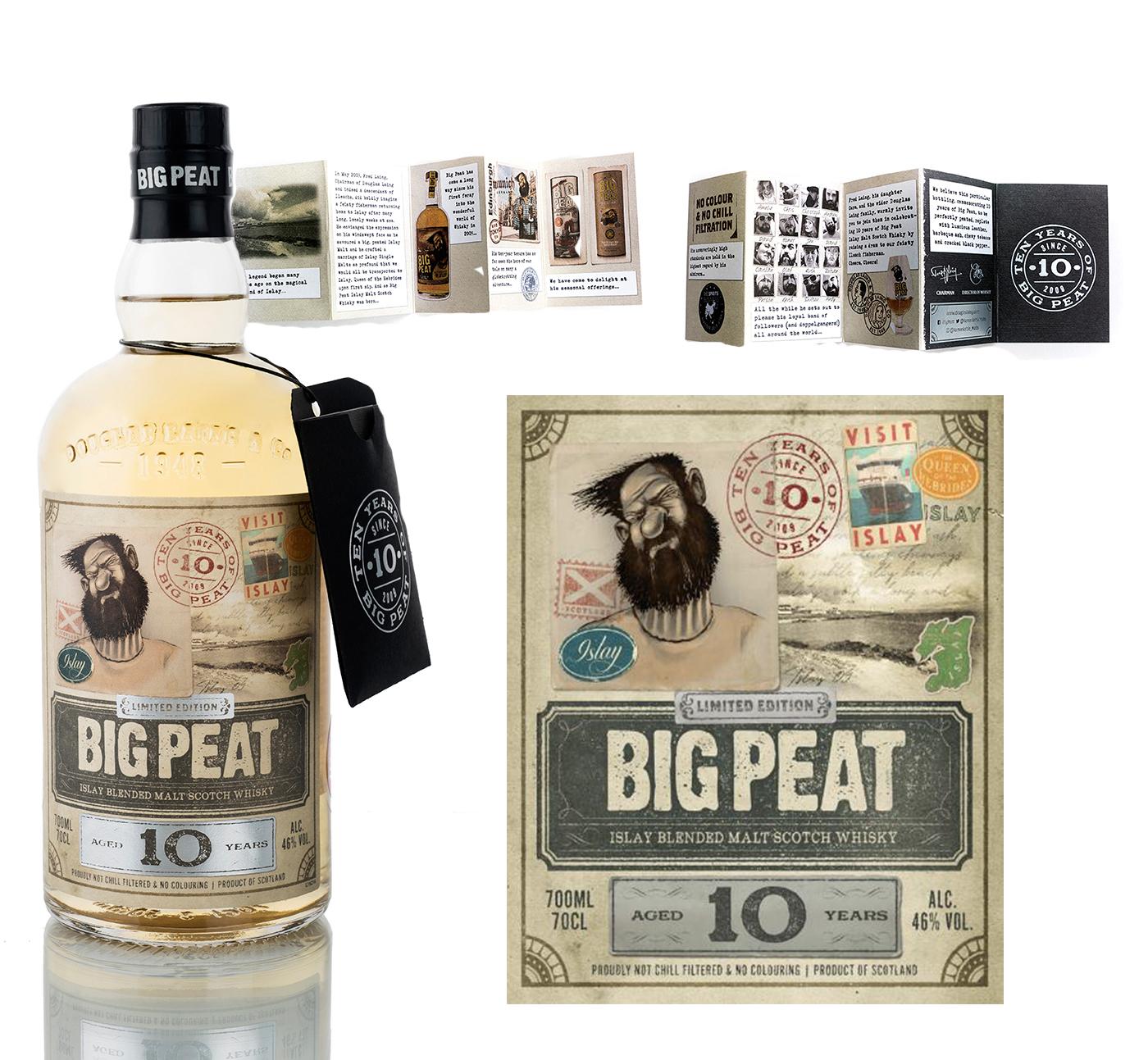 Big Peat viert verjaardag met een 10 jaar oude limited edition fles + etiket