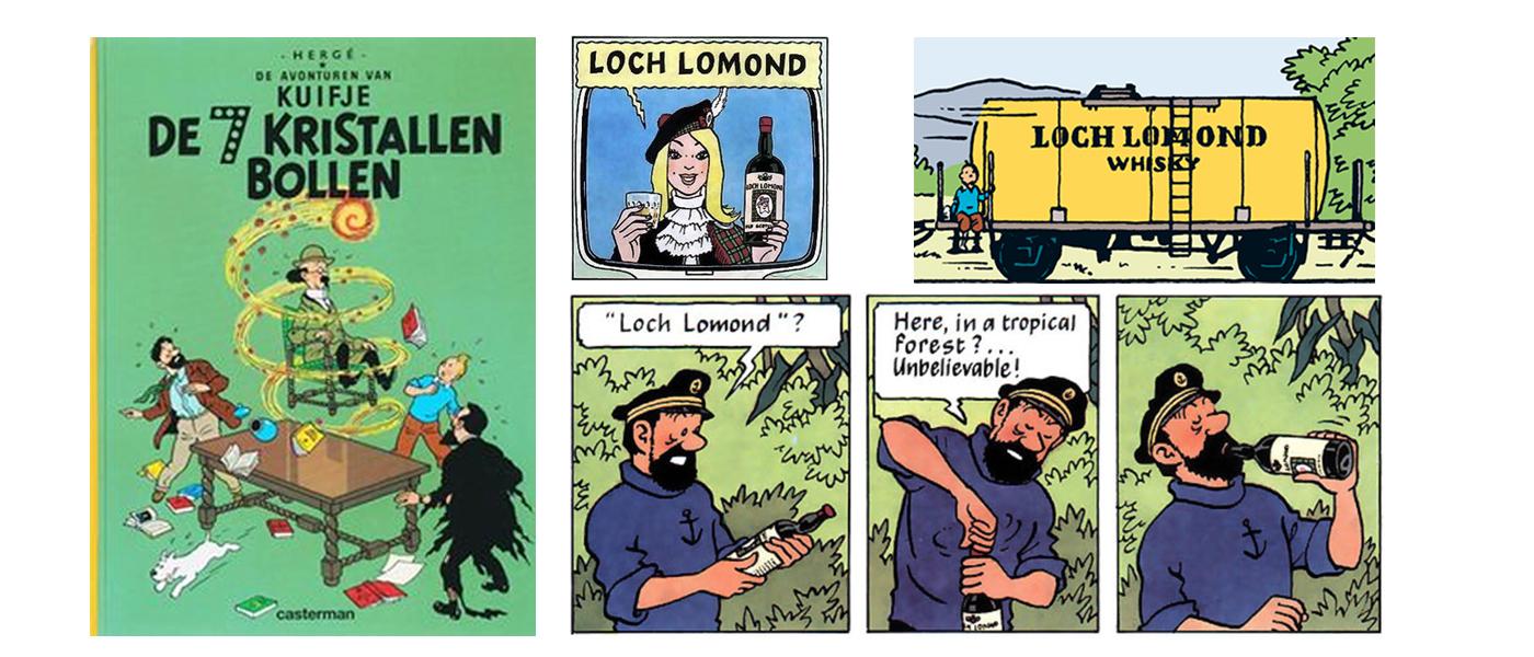De 7 kristallen bollen dronk Kapitein Haddock voor het eerst Loch Lomond