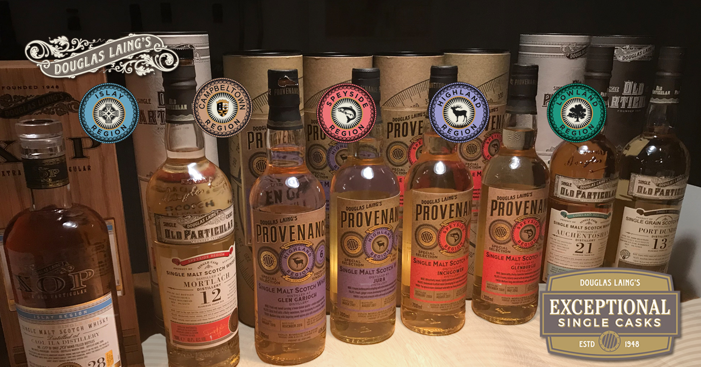 Exceptional Single Casks van Douglas Laing op whiskyproeverij Slijterij Vonk