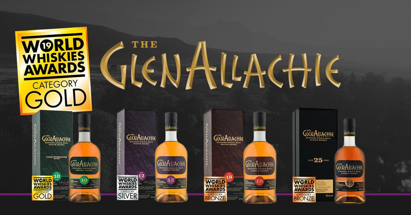 Mondiale onderscheidingen voor de gehele core range van The GlenAllachie