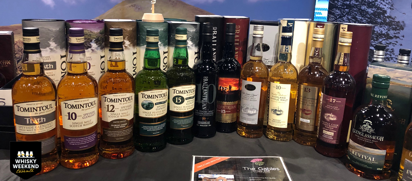 Schotse whisky's op Whisky Weekend Twente
