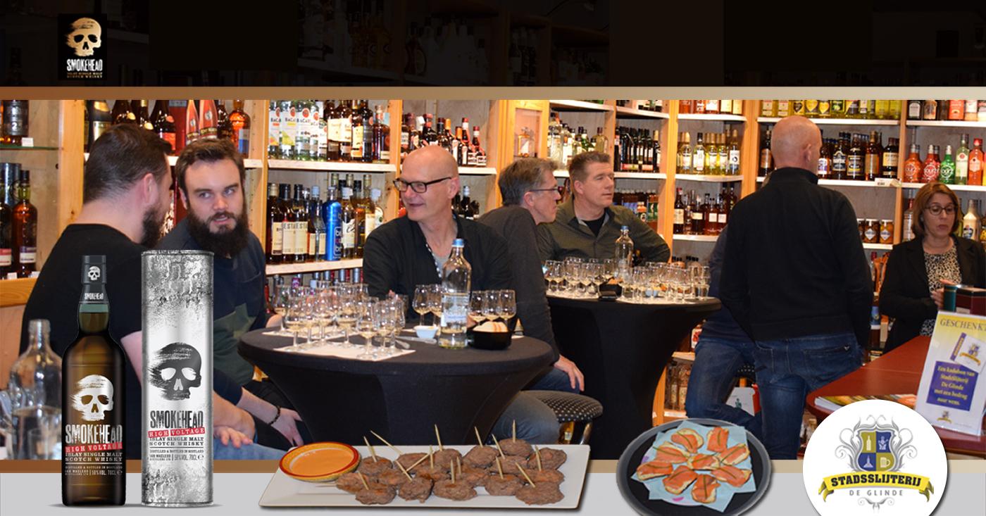 Smokehead met zalmgehaktballetjes op whiskyproeverij bij De Glinde in Oldenzaal