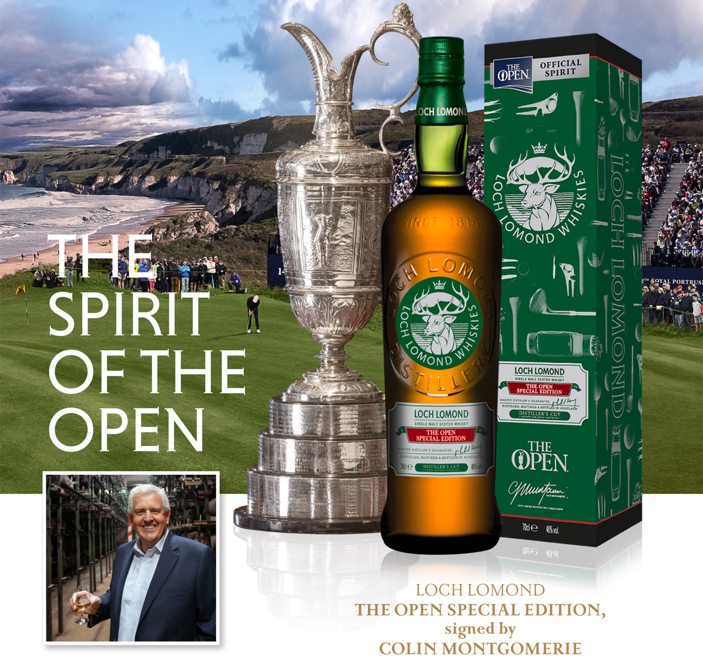 The Open Special Edition signed by Colin Montgomerie