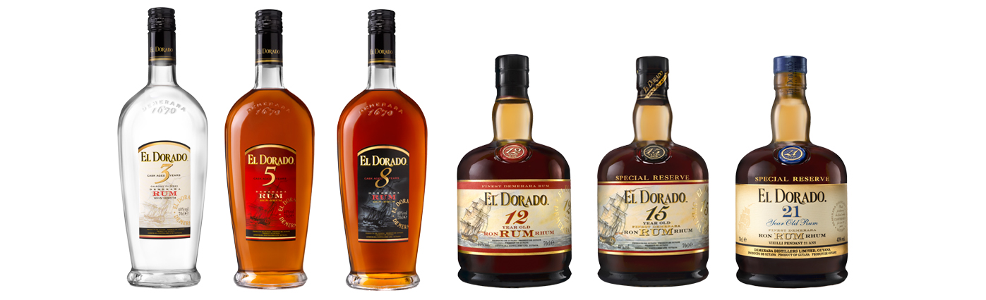 El Dorado Rum line-up Slijterij Mans Margraten