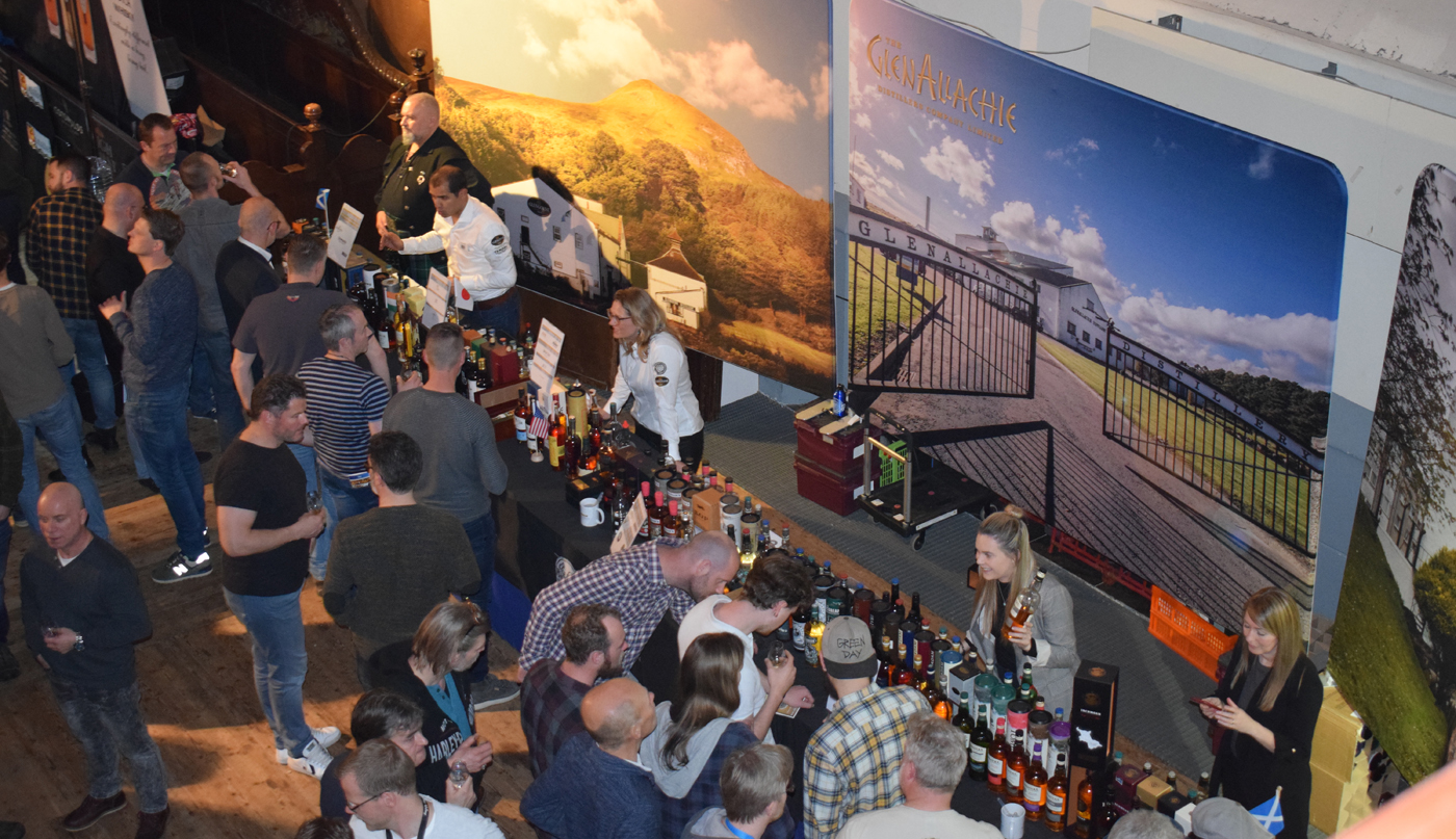 Overzicht stand De Monnik Dranken Whisky Festival Noord-Nederland 2019