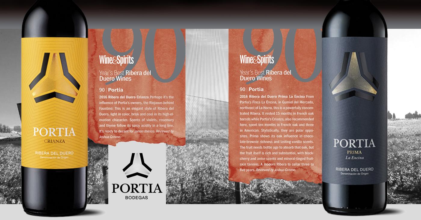 Bodegas Portia ontvangt uitstekende beoordelingen van Wine & Spirits Magazine