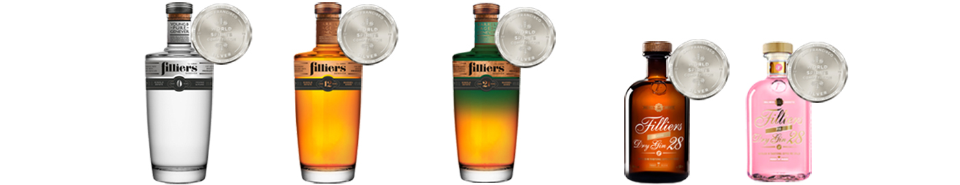 Filliers 5 zilveren medailles tijdens de San Francisco World Spirits Competition 2019