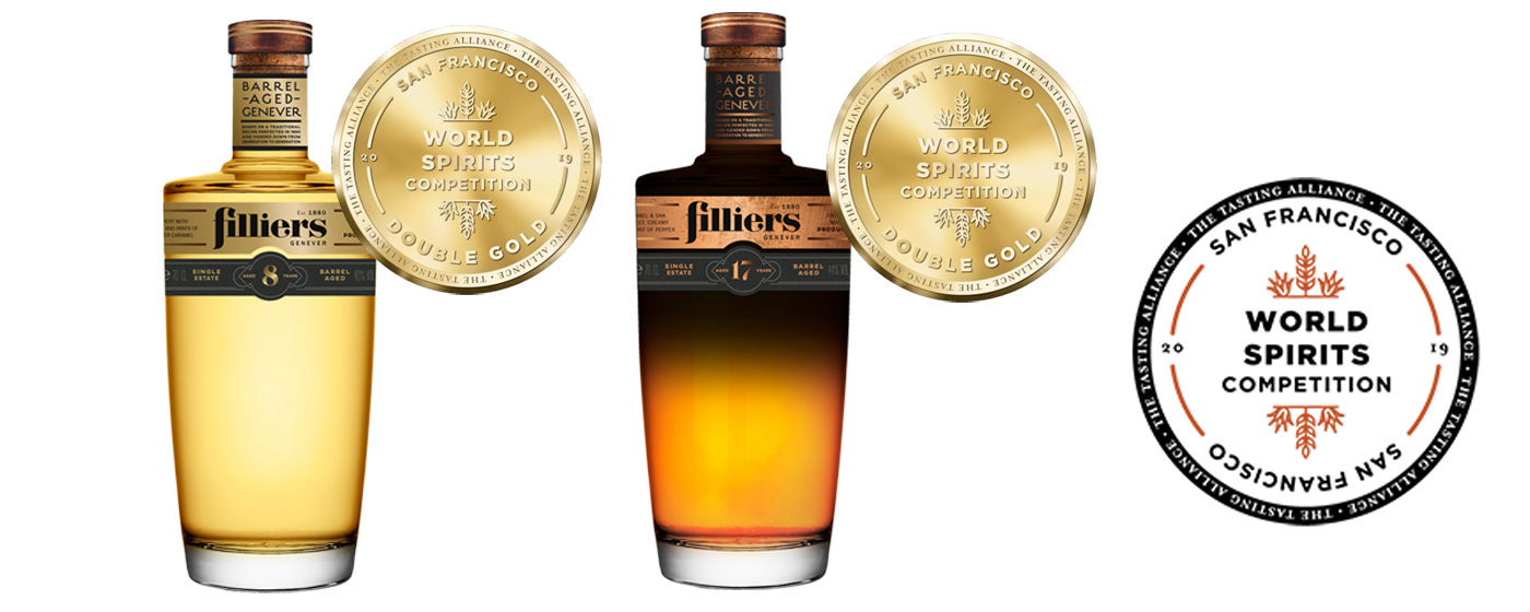 Filliers Barrel Aged Genevers blinken uit tijdens de San Francisco World Spirits Competition 2019
